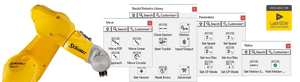 Stäubli Robotics Library