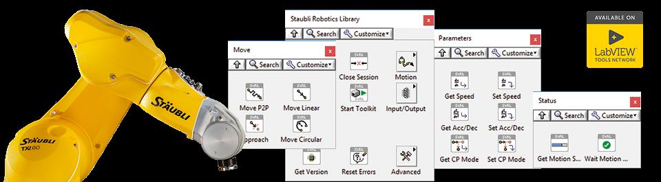 DigiMetrix Robotics Bibliothek vor Stäubli